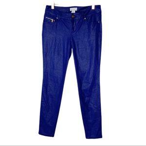 Cache Metallic Dotted Skinny Pants Sz 0